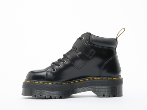 Dr. Martens In Black Polished Bryony