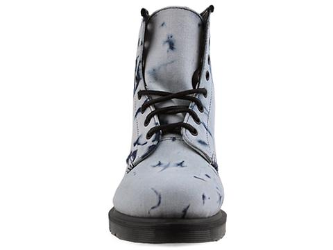 Dr. Martens In Blue Bleached Denim Castel