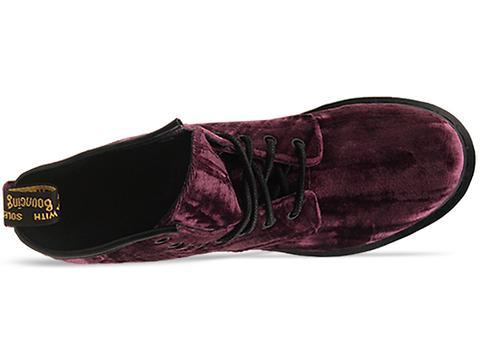 Dr. Martens In Purple Velvet Castel