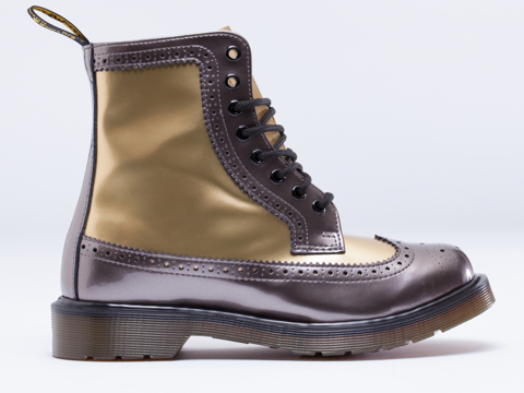 Dr. Martens In Pewter Gold Harrie