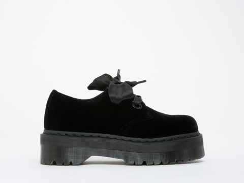 Dr. Martens In Black Ze You Velvet Holly