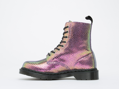 Dr. Martens In Violet Mirror Shift Suede Pascal