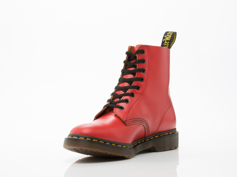 Dr. Martens In Red Vintage Smooth Pascal Mens
