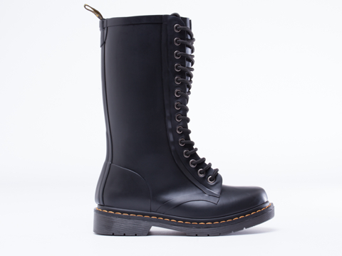Dr. Martens In Matt Black Shower