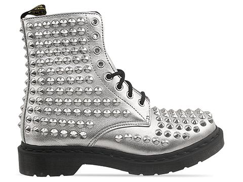 Dr. Martens In Silver Spike