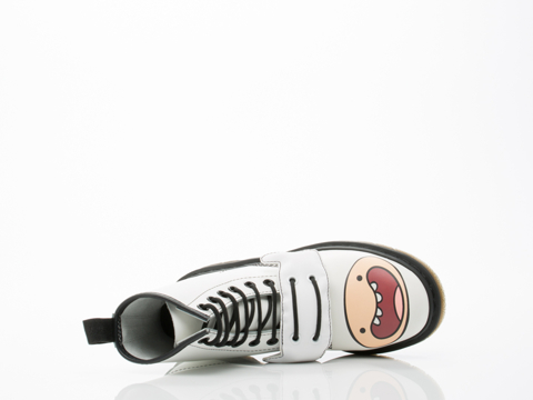 Dr. Martens X Adventure Time In White Finn Boot Womens
