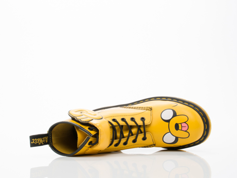Dr. Martens X Adventure Time In Yellow Jake Boot Mens