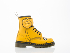 Dr. Martens X Adventure Time In Yellow Jake Boot Womens