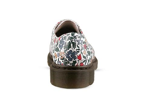 Dr. Martens X Liberty London In Blue Cherry Red Green 1461 Shoe