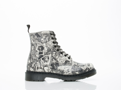 Dr. Martens X Mark Wigan In Black White Party People Pascal Womens