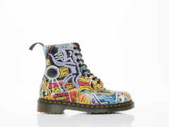 Dr. Martens X Mark Wigan In Multi Kaboom Pascal Womens