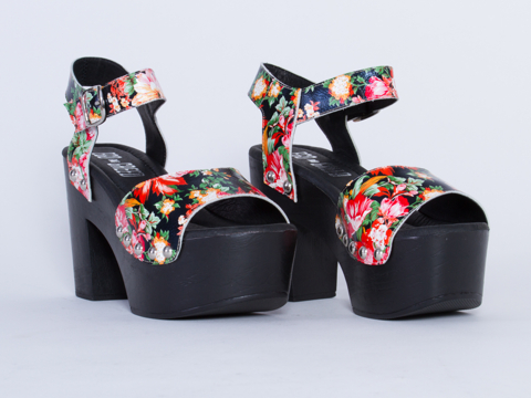Ego and Greed In Black Floral Carleen