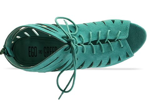 Ego and Greed In Mint Green Kid Nubuck Kitty