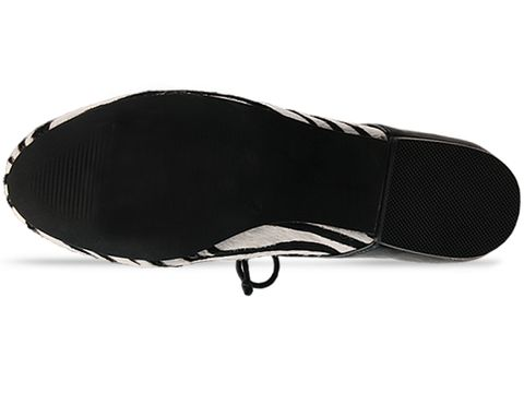 Ego and Greed In Zebra Black Leather Oxford Fur