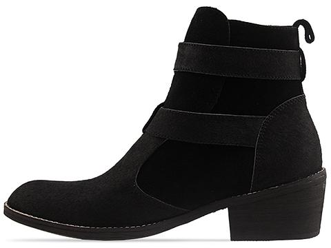Ego and Greed In Black Suede Pony Tallum