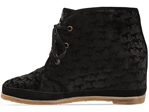 Eighty Twenty In Black Pony Printed Suede Eliotte Suede
