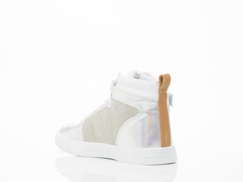 Eleven Paris In Holo Silver Sneaker Mens