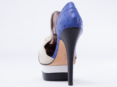Elly Clay In Blue Skylar Pump