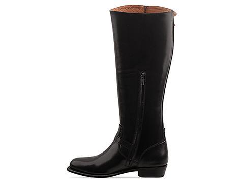 Frye In Black Dorado Buckle Riding Boot