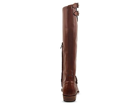 Frye In Whiskey Dorado Buckle Riding Boot