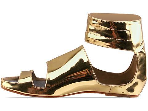 Gold Dot In Gold Emi Sandals