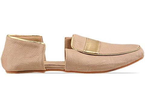 Gold Dot In Beige Eriko Loafers