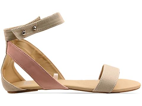 Gold Dot In Light Gray Farah Sandals