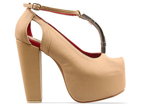 Gold Dot In Beige Gilda Mary Janes