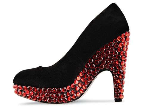 Haus of Price In Red Solid Goddess Heel