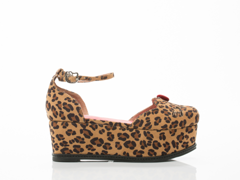 Hello Kitty X Jeffrey Campbell In Brown Natural Cheetah Suebee HK