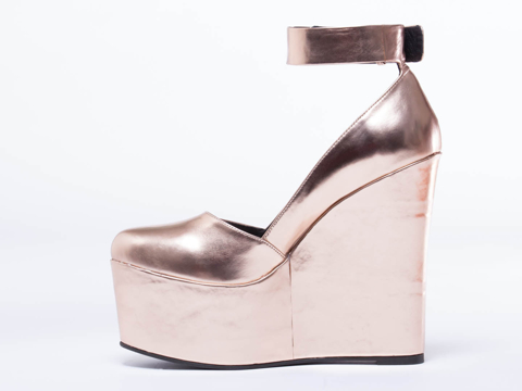 I Desire The Things That Will Destroy Me In Rose Gold Metallic Bowery
