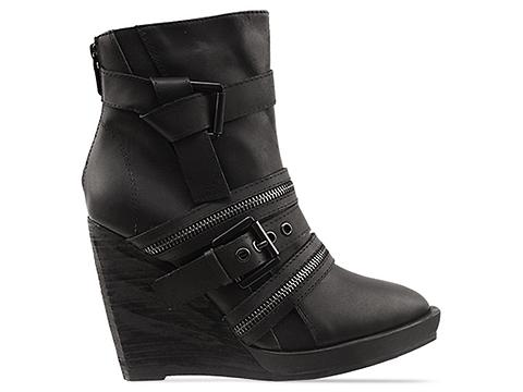 In Between In Black Athena Wedge Boot
