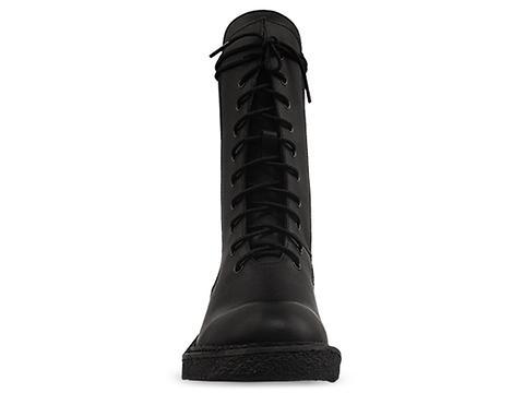 In Between In Black Hazel Textured Combat Boot
