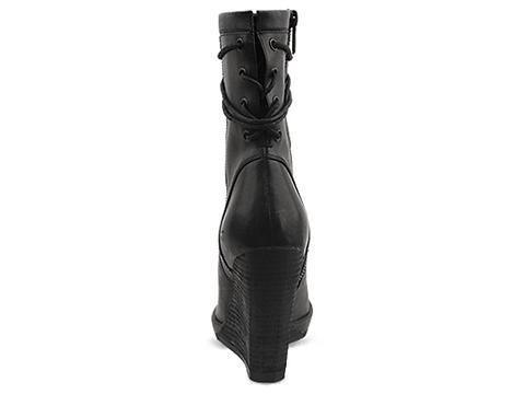In Between In Black Olivia Wedge Boot