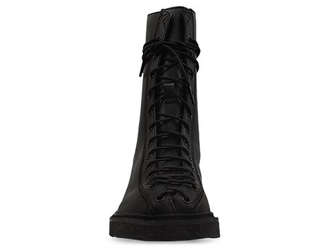 In Between In Black Silvia Lace Up Combat Boot