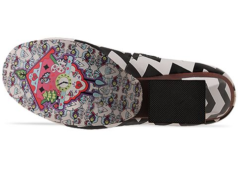 Irregular Choice In Black White Botoxic