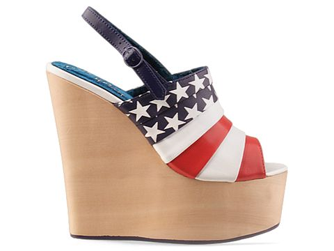 Irregular Choice In Red Blue Chica Chola Flag