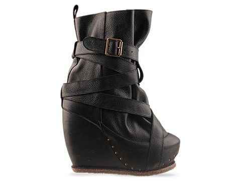Irregular Choice In Black Leather The Beast