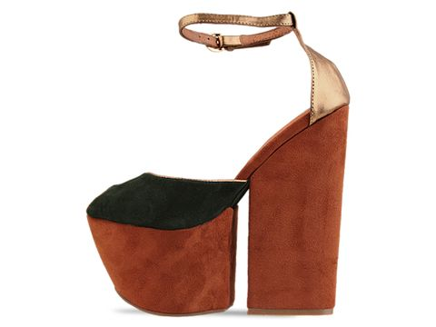 Jeffrey Campbell In Dark Green Suede Bronze 4 Evz