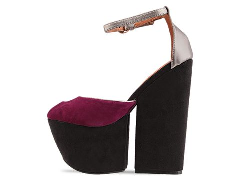 Jeffrey Campbell In Purple Suede Pewter 4 Evz