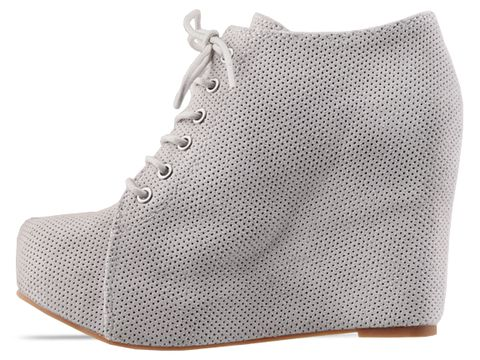 Jeffrey Campbell In White Perf Suede 99 Tie