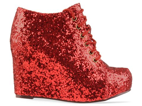 Jeffrey Campbell In Red 99 Tie Glitter