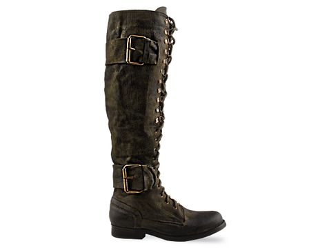 Jeffrey Campbell In Khaki Leather All Strap T