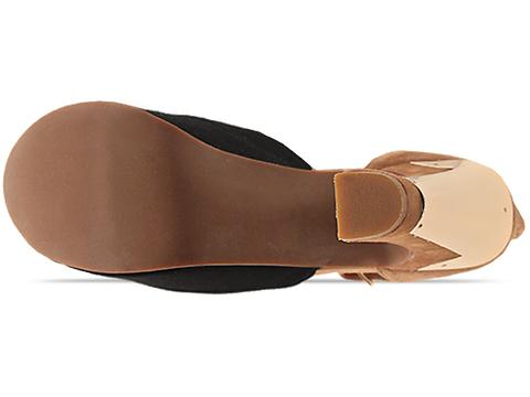 Jeffrey Campbell In Black Suede Nude Suede Gold All The Way