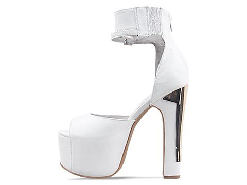 Jeffrey Campbell In White Gold All The Way