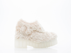 Jeffrey Campbell In Beige Anola Fur