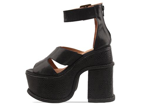 Jeffrey Campbell In Black Lizard Black Wave Anton Exotic