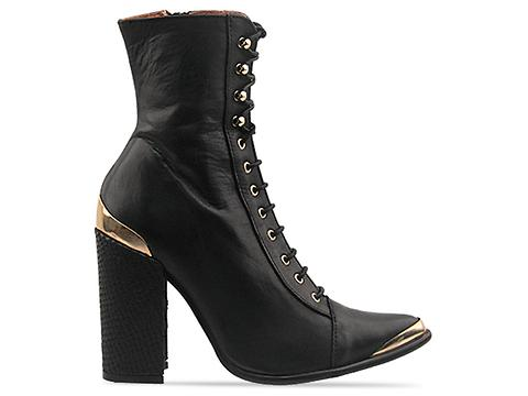 Jeffrey Campbell In Black Leather Antonio