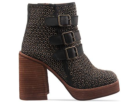 Jeffrey Campbell In Black Washed Bronze Arcadia Stud