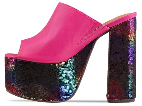 Jeffrey Campbell In Fuchsia Neon Multi Archie